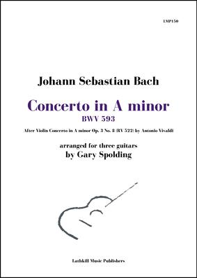 cover of Concerto in A minor, BWV 593 by Bach (after Vivaldi) arr. for three guitars by Gary Spolding