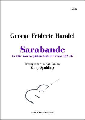 cover of Sarabande 'La Folia' by Handel arranged for guitar ensemble by Gary Spolding