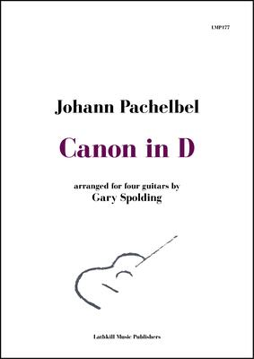 cover of Canon in D by Pachelbel arranged for four guitars by Gary Spolding
