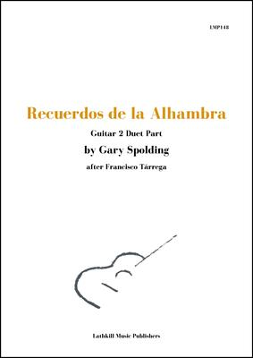 cover of Recuerdos de la Alhambra Guitar 2 Duet Part by Gary Spolding