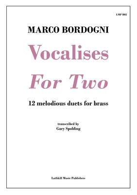 cover of Vocalises For Two by Marco Bordogni transcribed for brass instruments by Gary Spolding