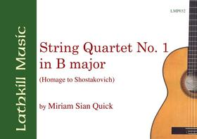 cover of String Quartet No.1 in B Major by Miriam Sian Quick