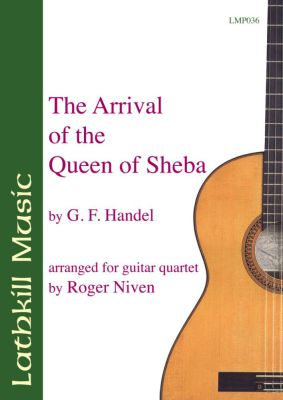 cover of The Arrival of the Queen of Sheba by Handel arr. Roger Niven