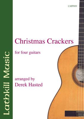 cover of Christmas Crackers for four part guitar ensemble