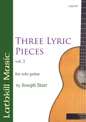 cover of Three Lyric Pieces Volume 2 by Joseph Starr