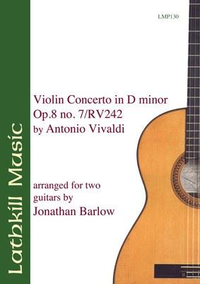 cover of Violin Concerto in D Minor op.8 no.7 / RV242 by Vivaldi arr. Jonathan Barlow