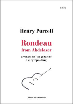 cover of Rondeau from Abdelazer by Purcell arranged for four guitars by Gary Spolding - free sheet music