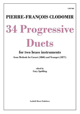 cover of 34 Progressive Duets by Clodomir transcribed for brass instruments by Gary Spolding