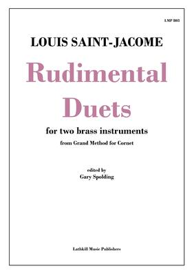 cover of Rudimental Duets by Saint-Jacome transcribed for brass instruments by Gary Spolding